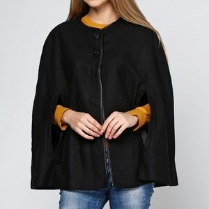 Zara Black wool Cape size small